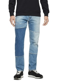 Calvin Klein Jeans Men's Patchwork Stretch-Cotton Jeans