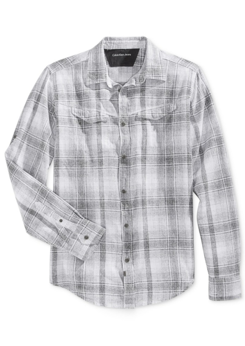 Calvin Klein Jeans Men's Plaid Long-Sleeve Shirt
