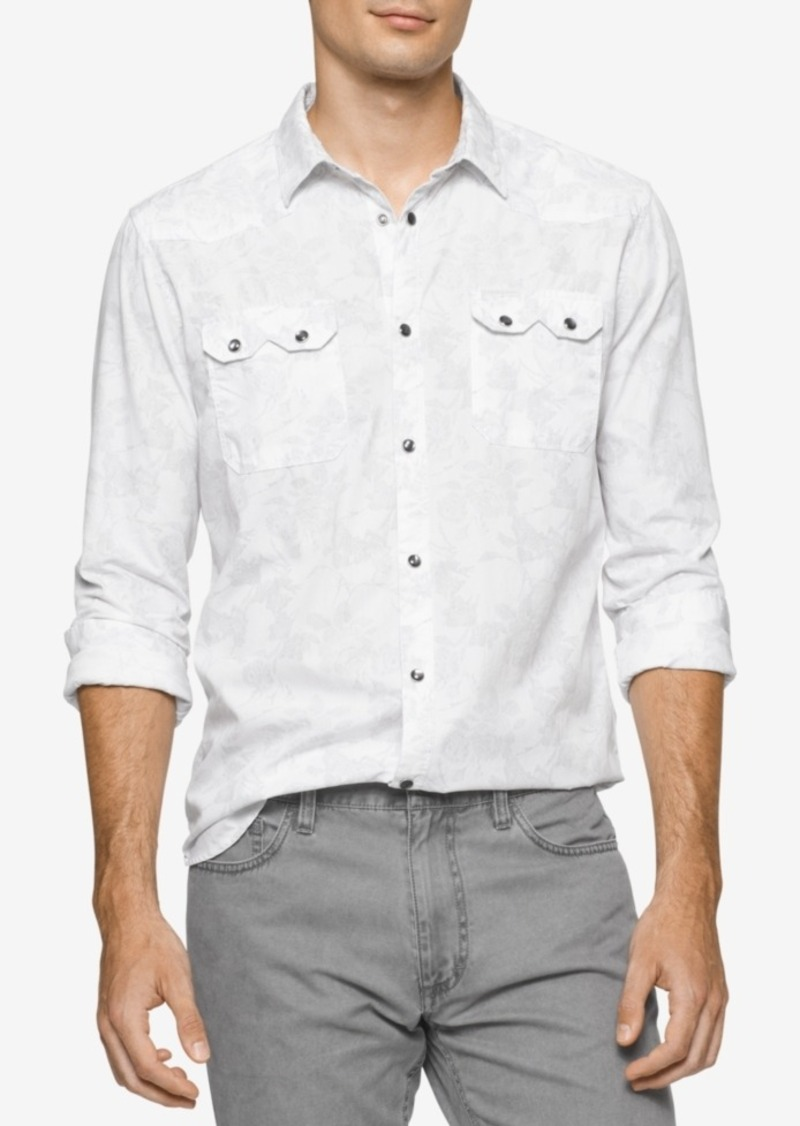 Calvin Klein Jeans Men's Retro Palm-Print Shirt