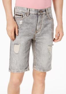 """Calvin Klein Jeans Men's Ripped Denim 10.5"""" Inseam Shorts"""