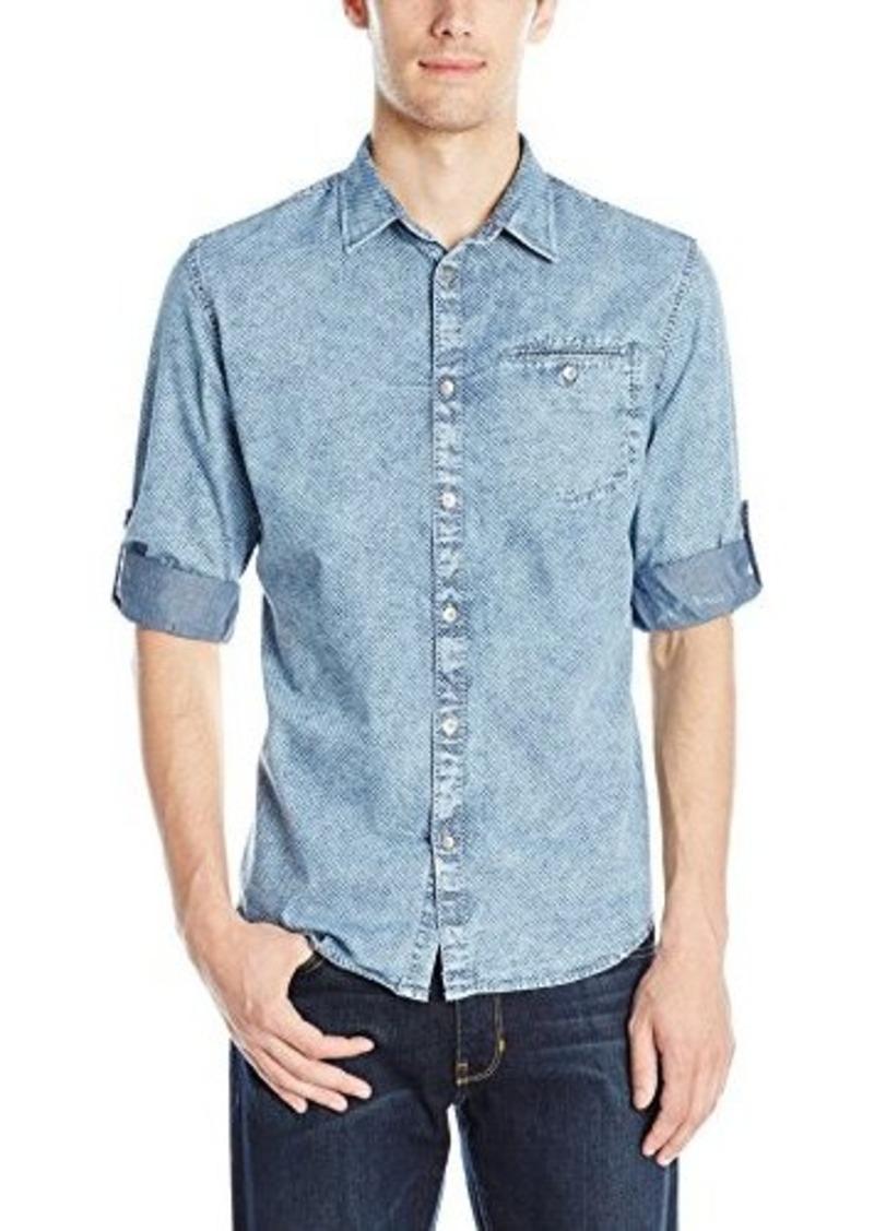 Calvin Klein Jeans Men's Roll Tab Quadrant Check Print Button Down Shirt