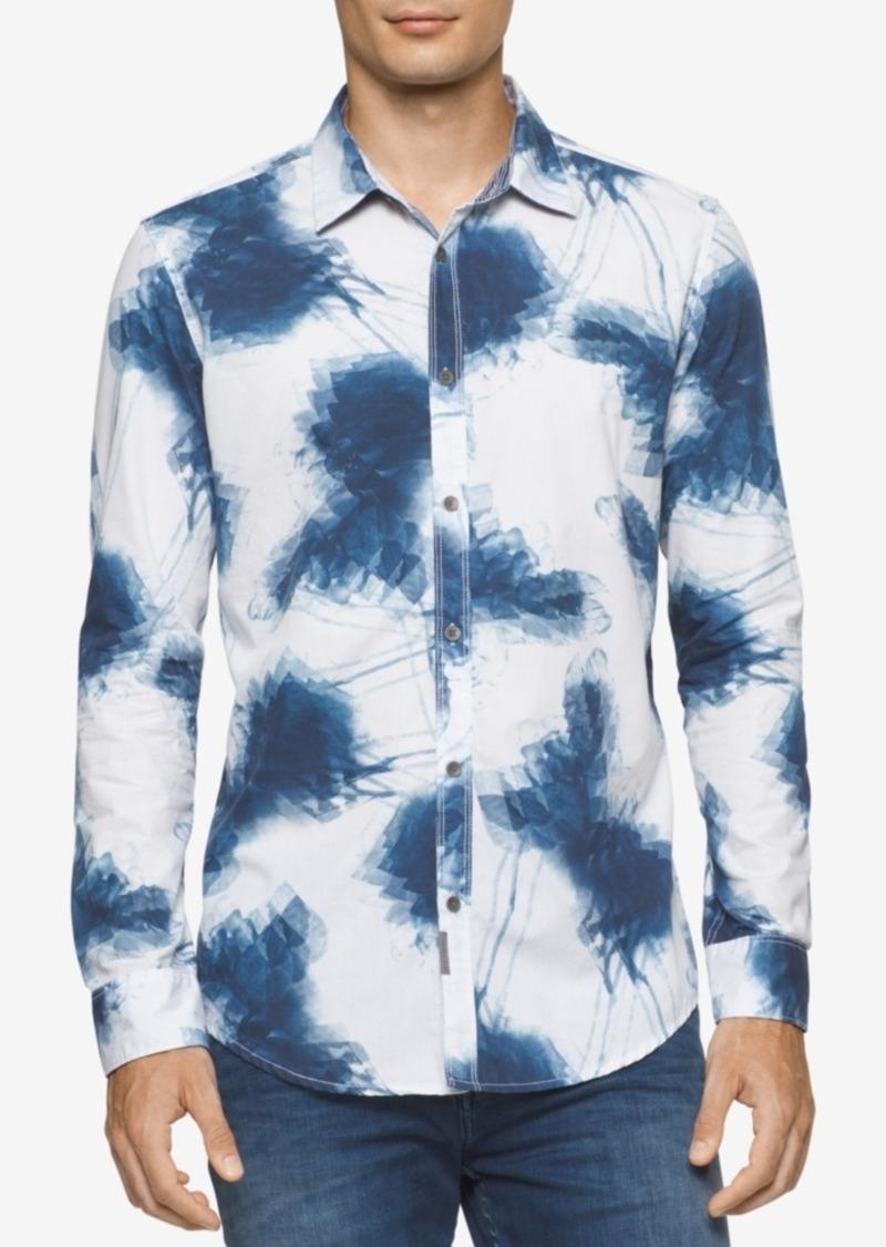Calvin Klein Jeans Men's Shaken Leaves-Print Shirt