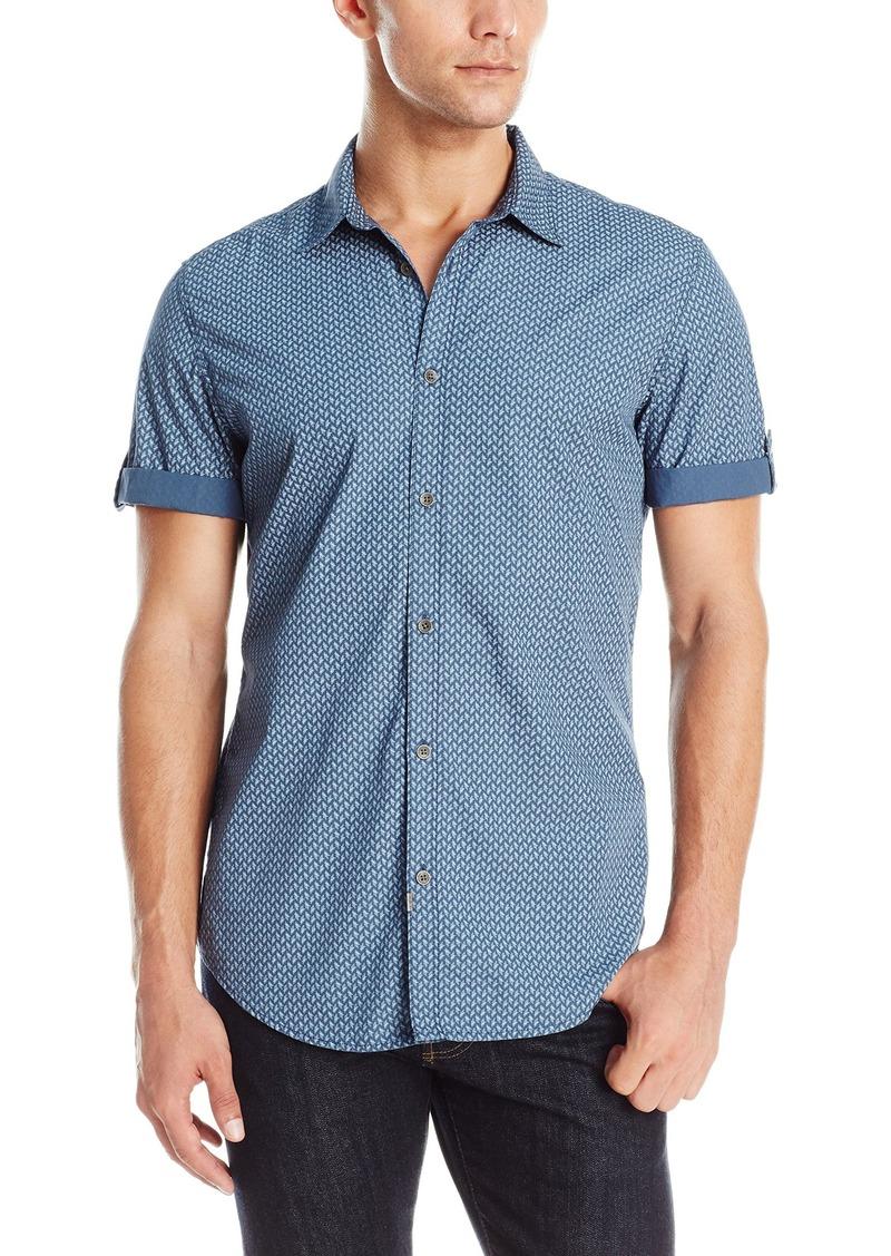 On sale today calvin klein calvin klein jeans men 39 s short for Button down shirts for short men