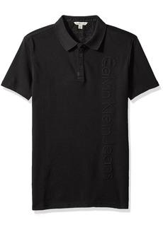 Calvin Klein Jeans Men's Short Sleeve Deboss Ck Logo Polo Shirt