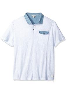 Calvin Klein Jeans Men's Short Sleeve Diamond Print Polo Shirt