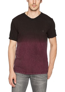 Calvin Klein Jeans Men's Short Sleeve Dip Dye V-Neck T-Shirt