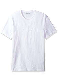 Calvin Klein Jeans Men's Short Sleeve Embroidered Calvin Crew Neck T-Shirt  2X-Large