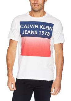 Calvin Klein Jeans Men's Short Sleeve Gradient Crew Neck T-Shirt