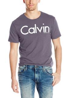 Calvin Klein Jeans Men's Short Sleeve Hd Calvin Logo Crew Neck T-Shirt
