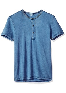 Calvin Klein Jeans Men's Short Sleeve Henley Shirt with Three Button Placket  XL