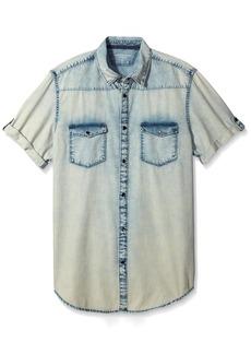 Calvin Klein Jeans Men's Short Sleeve o Button Down Shirt Indig