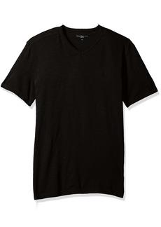 Calvin Klein Jeans Men's Short Sleeve Mixed Media V-Neck T-Shirt