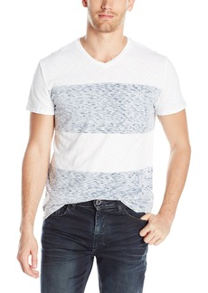 Calvin Klein Jeans Men's Short Sleeve Reverse Blotch Stripe Color Block T-Shirt White 2X-Large