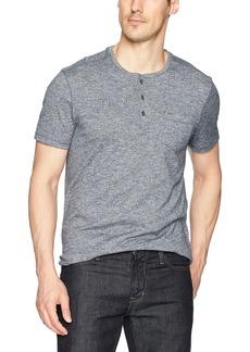 Calvin Klein Jeans Men's Short Sleeve Slub Grindle Henley Shirt with Pocket