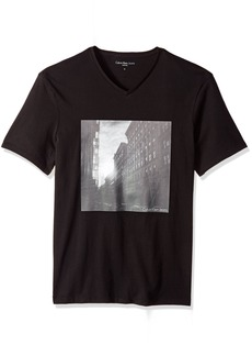 Calvin Klein Jeans Men's Short Sleeve Soho Graphic V-Neck T-Shirt