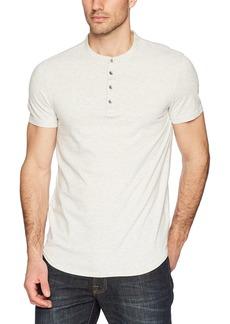 Calvin Klein Jeans Men's Short Sleeve Stripe Henley Arid Warms  XS