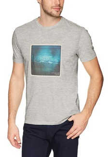Calvin Klein Jeans Men's Short Sleeve T-Shirt Crew Neck With Beach Side Graphic  XL