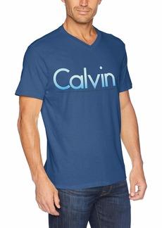 Calvin Klein Jeans Men's Short Sleeve T-Shirt Gradient Calvin Logo mid Storm M