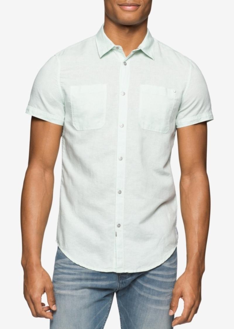 Calvin Klein Jeans Men's Skip Striped Short-Sleeve Shirt