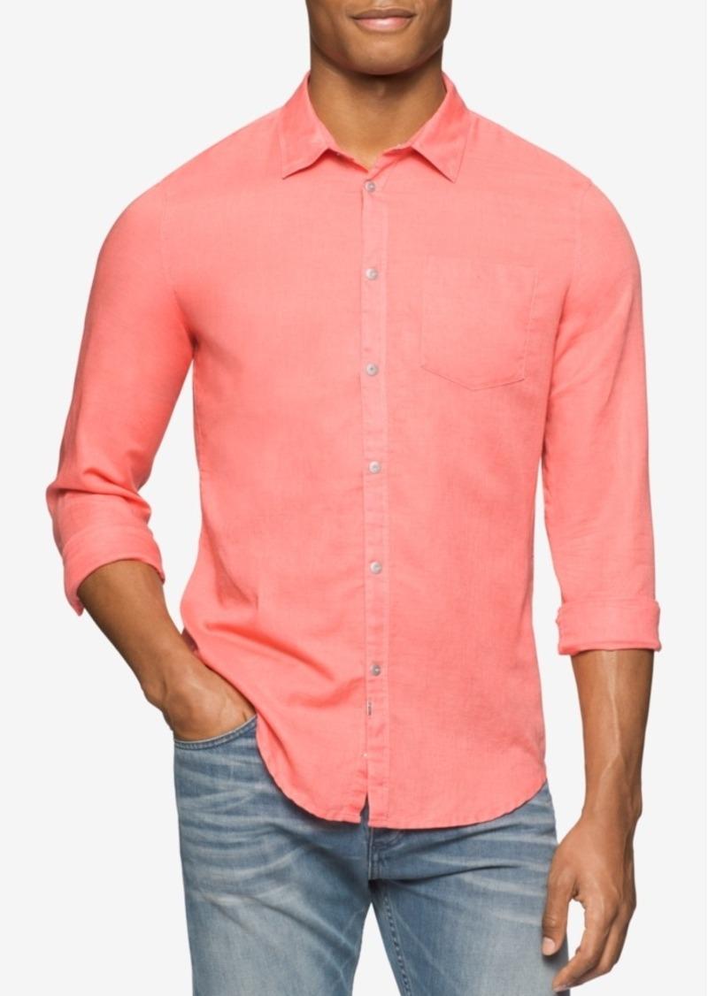 Calvin Klein Jeans Men's Snap-Front Long-Sleeve Shirt