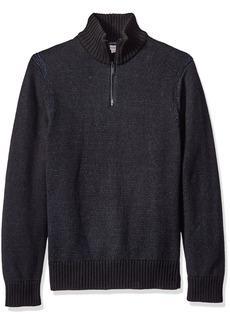 Calvin Klein Jeans Men's Speckle Plated Quarter Zip Sweater  2X-LARGE