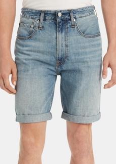 Calvin Klein Jeans Men's Straight-Fit Cuffed Denim Shorts