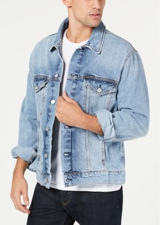 Calvin Klein Jeans Men's Tash Blue Modern Classic Tracker Jacket