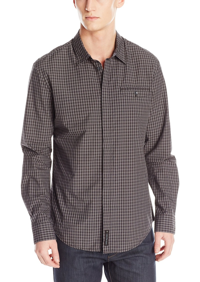 Calvin Klein Jeans Men's Tonal Check Besom Pocket Shirt