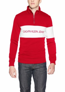 Calvin Klein Jeans Men's Track Jacket Tango red