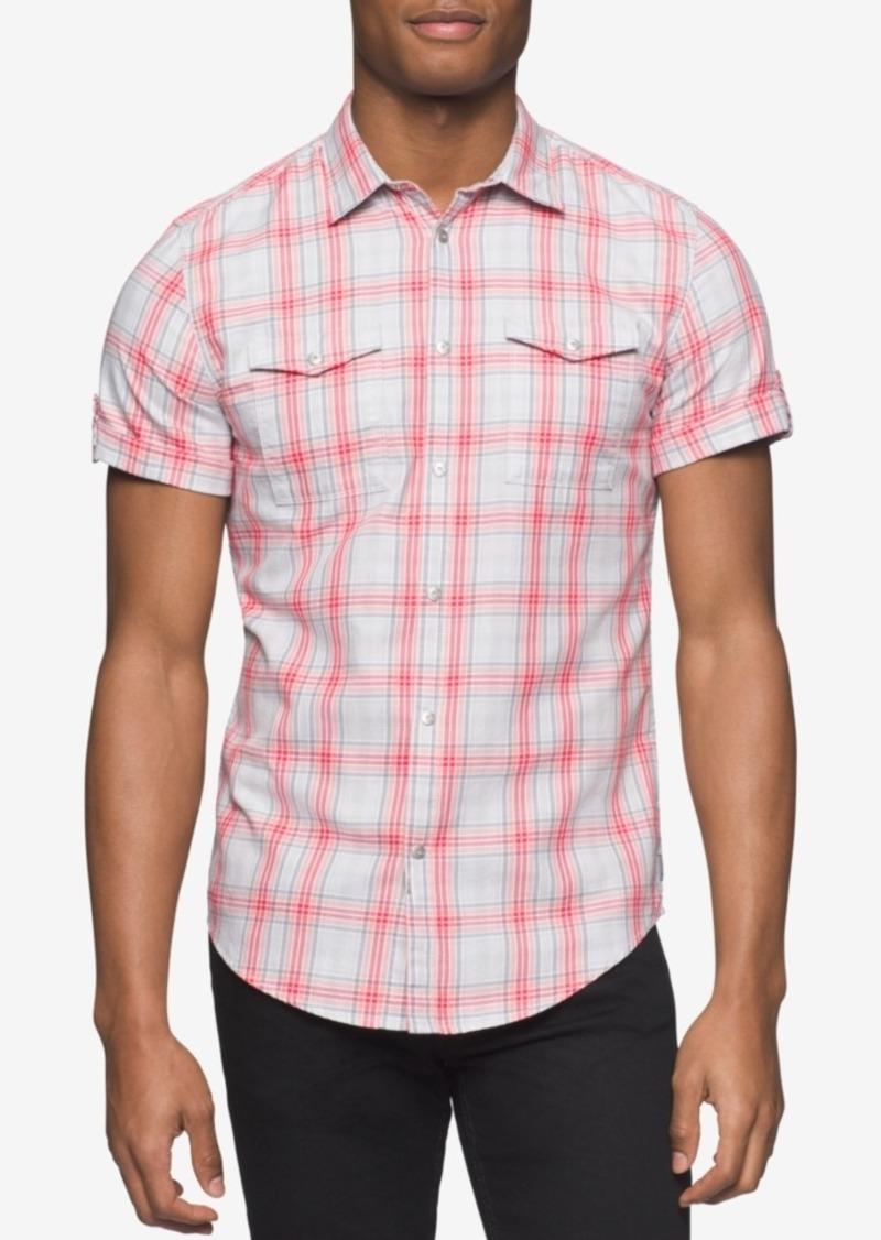 Calvin Klein Jeans Men's Twill Plaid Short-Sleeve Shirt