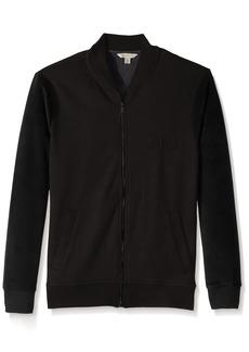 Calvin Klein Jeans Men's Velour Fleece Logo Bomber Jacket