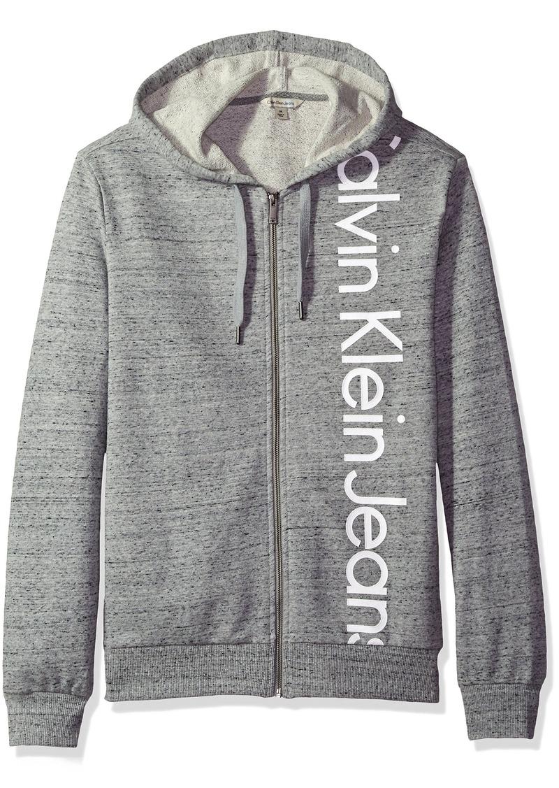 25c2a1c3ccfd Calvin Klein Calvin Klein Jeans Men s Vertical Logo Full Zip Hoodie