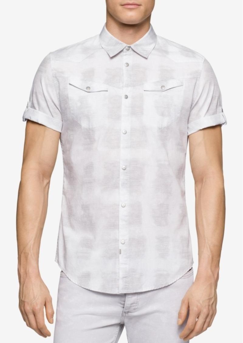 Calvin Klein Jeans Men's White River Reflection Short-Sleeve Shirt