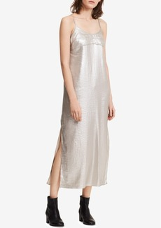 Calvin Klein Jeans Metallic Midi Slip Dress
