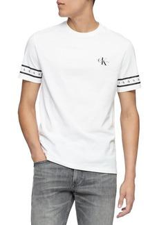 Calvin Klein Jeans Monogram Sleeve-Print Cotton Tee