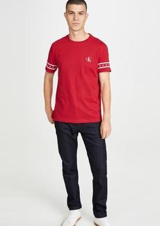 Calvin Klein Jeans Monogram Sleeve Print Crew Neck Tee
