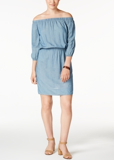 Calvin Klein Jeans Off-The-Shoulder Denim Dress