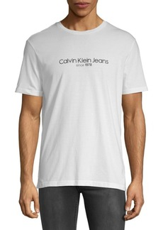 Calvin Klein Old School Cotton Crewneck Tee