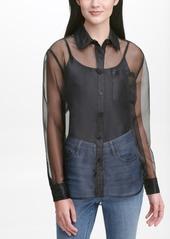 Calvin Klein Jeans Organza Button-Front Shirt