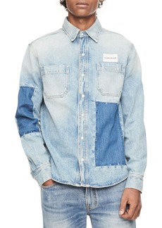 Calvin Klein Jeans Patched Denim Utility Shirt