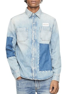 Calvin Klein Jeans Patched Regular Fit Utility Shirt