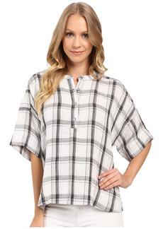 Calvin Klein Jeans Plaid Henley 3/4 Sleeve Shirt