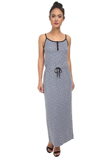 Calvin Klein Jeans Printed Cinched Waist Maxi