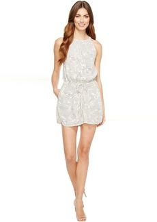 Calvin Klein Jeans Printed High Neck Bare Romper
