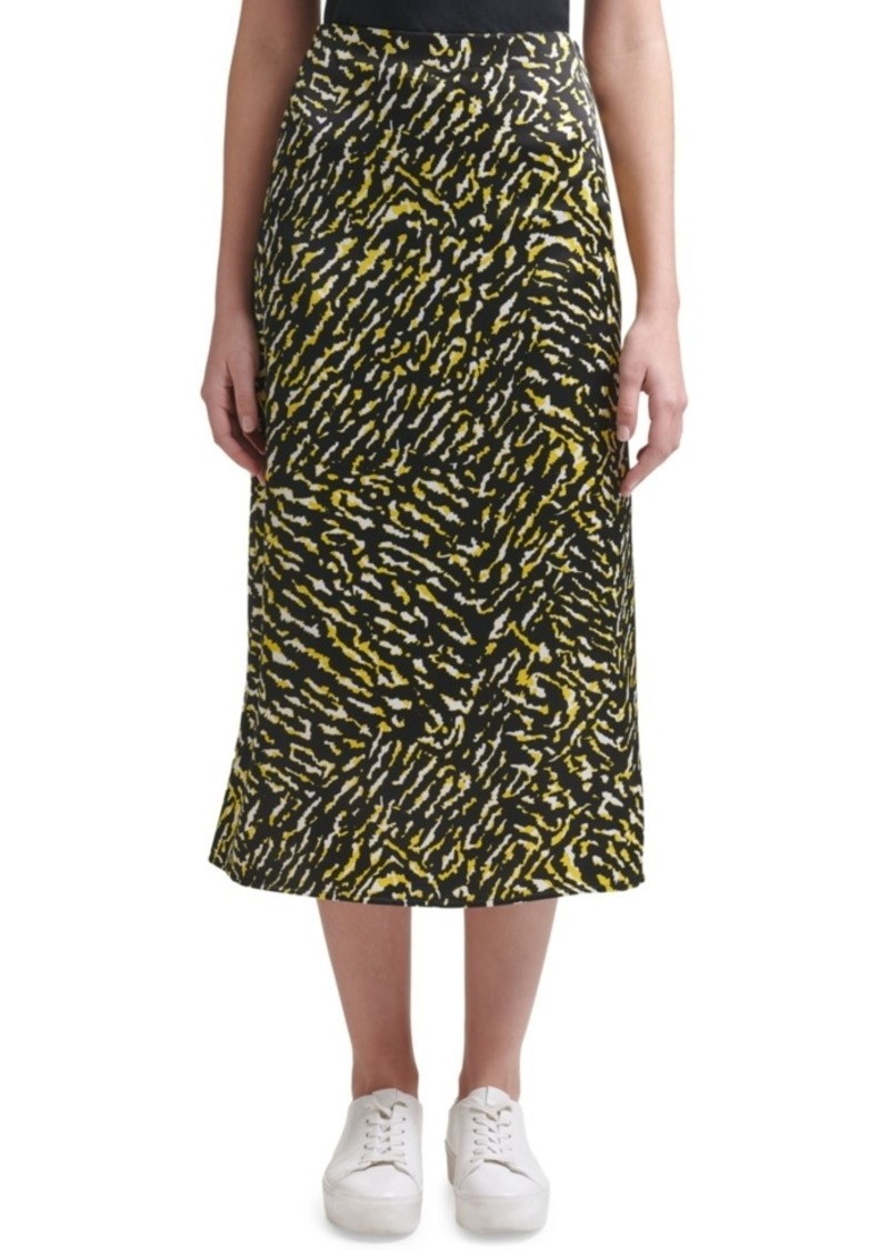 Calvin Klein Jeans Printed Pull-On Midi Skirt