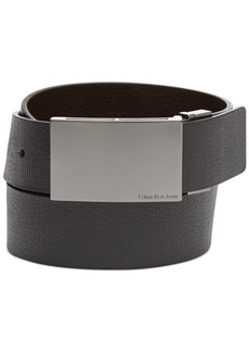 Calvin Klein Reversible Embossed Plaque Belt