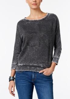 Calvin Klein Jeans Rhinestone Logo Graphic Sweatshirt