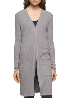 Calvin Klein Jeans Rib-Knit Button-Front Jacket