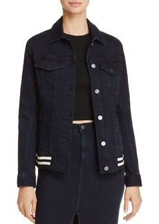 Calvin Klein Jeans Rib-Trim Trucker Denim Jacket