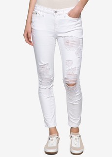 Calvin Klein Jeans Ripped Ankle Skinny Jeans